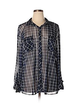 Eden & Olivia Long Sleeve Button-Down Shirt Size 3X (Plus)