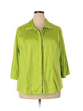 Lane Bryant 3/4 Sleeve Button-Down Shirt Size 24 (Plus)
