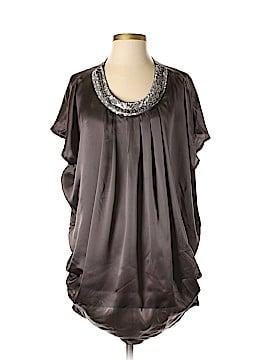 ...Trinity Short Sleeve Silk Top Size S
