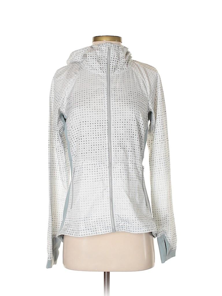 6643250ce13ba Athleta 100% Polyester Polka Dots White Track Jacket Size S - 62 ...