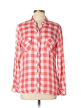 Maison Jules Long Sleeve Button-Down Shirt Size L