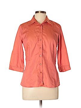 Thomas Pink 3/4 Sleeve Button-Down Shirt Size 12