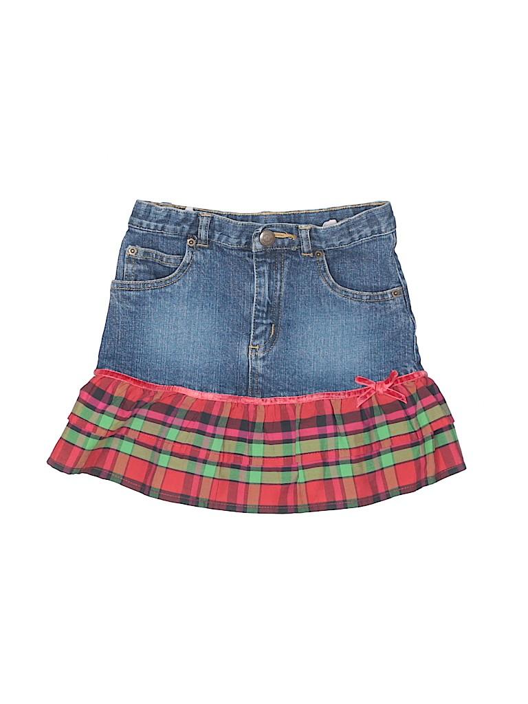 4fcf25b507 Baby Gap Plaid Blue Denim Skirt Size 4 - 80% off | thredUP