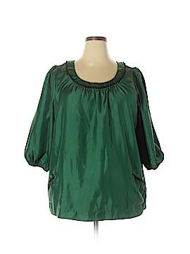 Denim 24/7 3/4 Sleeve Blouse Size 18W (Plus)