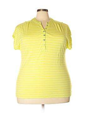 Liz Claiborne Short Sleeve Henley Size 3X (Plus)