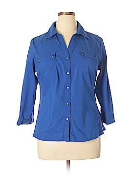 Zac & Rachel 3/4 Sleeve Button-Down Shirt Size XL