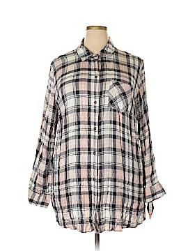 Ava & Viv 3/4 Sleeve Button-Down Shirt Size 2X (Plus)