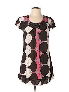Monsoon Short Sleeve Silk Top Size 36 (EU)