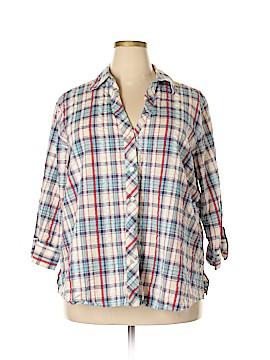 Foxcroft Long Sleeve Button-Down Shirt Size 22 (Plus)