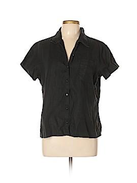 Kate Hill Short Sleeve Button-Down Shirt Size L