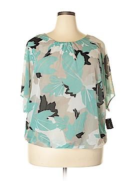 Alfani Short Sleeve Blouse Size 0X (Plus)
