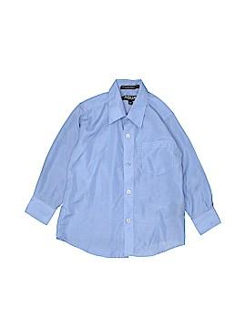 Aqua Long Sleeve Button-Down Shirt Size 4T