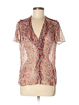 Ralph Lauren Short Sleeve Silk Top Size 8