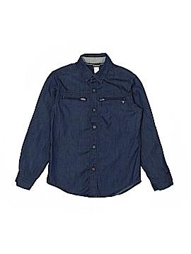 Guess Long Sleeve Button-Down Shirt Size 8