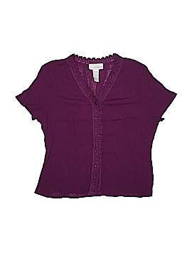 Sag Harbor Short Sleeve Button-Down Shirt Size 16