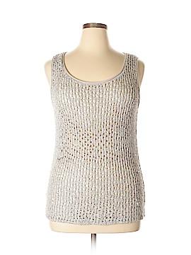 Joan Vass Sleeveless Top Size XL