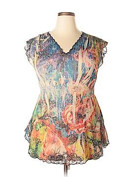 Mushka by Sienna Rose Short Sleeve Blouse Size 1X (Plus)