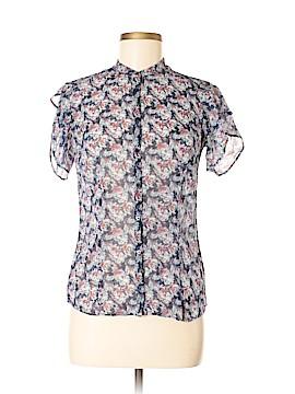 Armani Exchange Short Sleeve Silk Top Size M