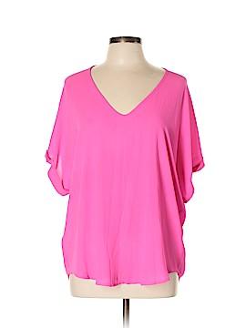 Lush Short Sleeve Blouse Size L