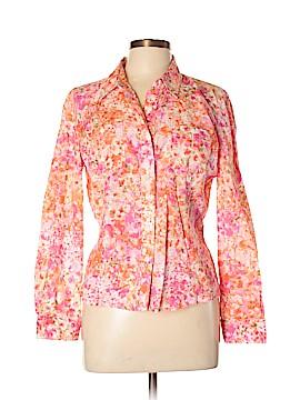 Jones New York Sport Long Sleeve Button-Down Shirt Size L (Petite)