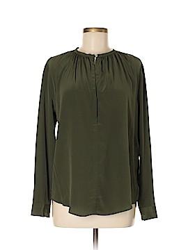 Sandro Long Sleeve Silk Top Size Med (2)