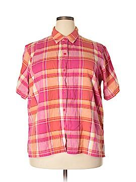 Victoria Jones Short Sleeve Button-Down Shirt Size 2X (Plus)