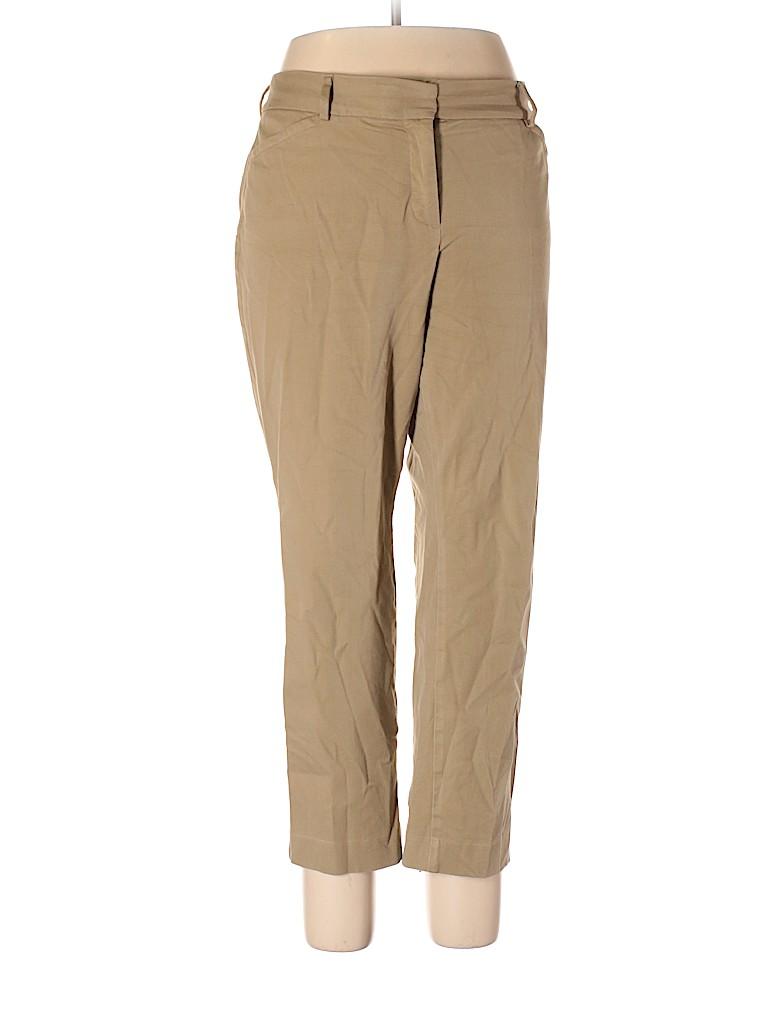 4e881140a33 Talbots Solid Tan Dress Pants Size 14 (Petite) - 82% off