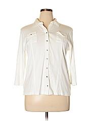 Style&Co Women 3/4 Sleeve Button-Down Shirt Size XL