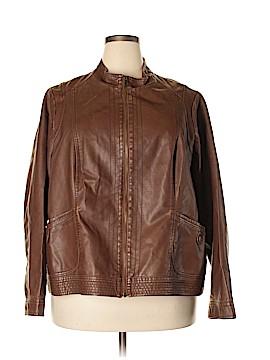 SONOMA life + style Faux Leather Jacket Size 3X (Plus)