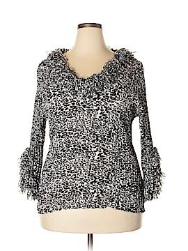 Agora 3/4 Sleeve Blouse Size 2X (Plus)