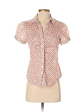 Ann Taylor Short Sleeve Button-Down Shirt Size 4 (Petite)