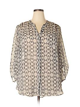 Como Vintage Long Sleeve Blouse Size 2X (Plus)