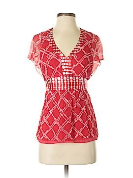 Silkland Short Sleeve Silk Top Size M