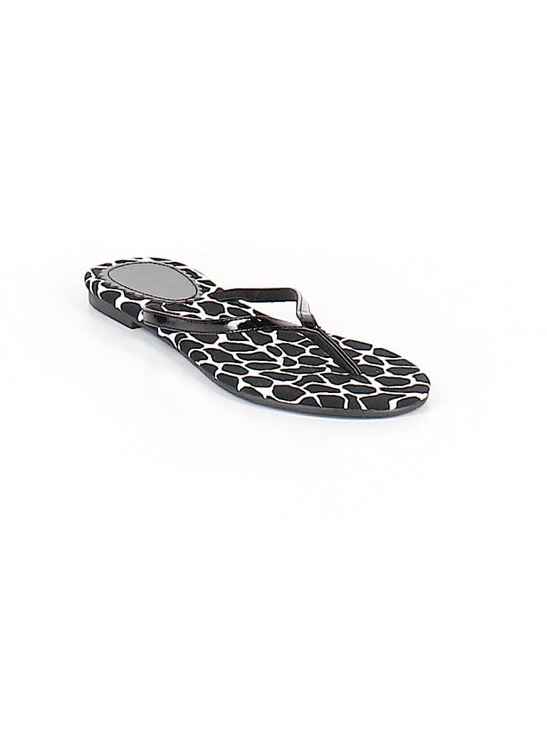 096a3f4e01f Express Animal Print Black Flip Flops Size 6 - 62% off