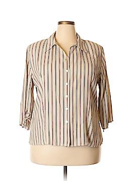 DressBarn Sleeveless Button-Down Shirt Size 18 - 20 (Plus)