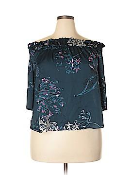 RACHEL Rachel Roy Short Sleeve Blouse Size XXL