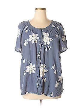 Liz & Me Short Sleeve Blouse Size 1X (Plus)