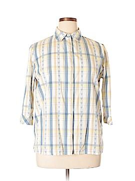 Alia Long Sleeve Button-Down Shirt Size 14