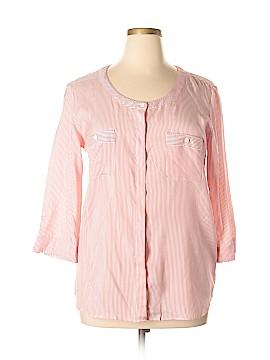 Faconnable 3/4 Sleeve Silk Top Size 14