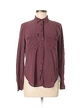 Lou & Grey Long Sleeve Silk Top Size XS