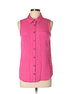 Notations Sleeveless Button-Down Shirt Size M
