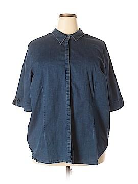 Venezia Short Sleeve Button-Down Shirt Size 26 (Plus)