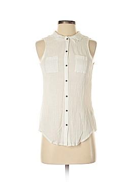LC Lauren Conrad Sleeveless Button-Down Shirt Size M
