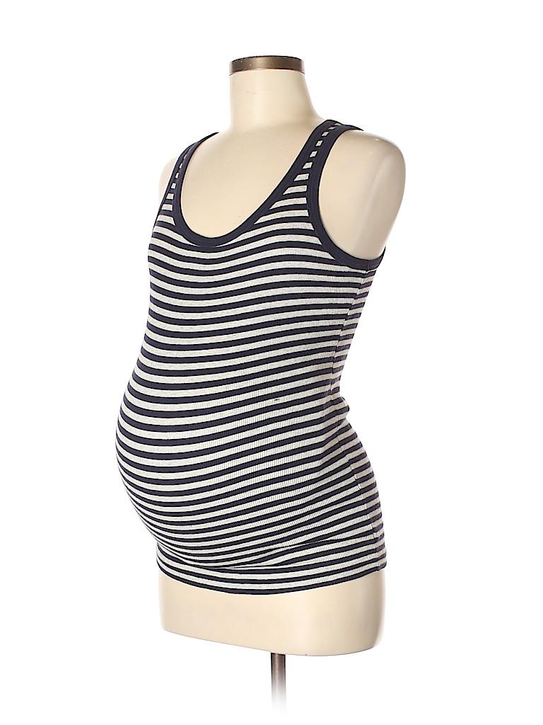 9ddd4384e7986 Gap - Maternity Stripes Navy Blue Tank Top Size XS (Maternity) - 73 ...
