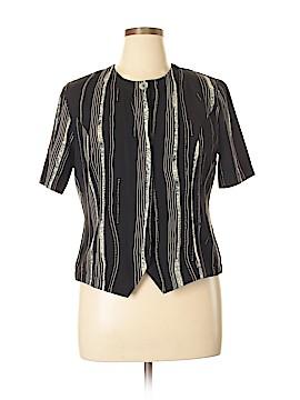 Kathy Che Short Sleeve Blouse Size 14 (Petite)