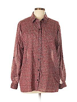 MICHAEL Michael Kors Long Sleeve Button-Down Shirt Size L