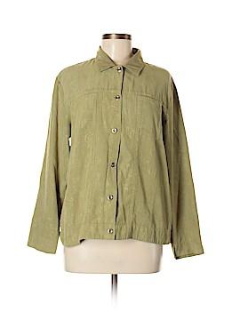 Erin London Long Sleeve Button-Down Shirt Size M