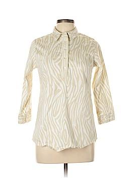 Gretchen Scott Designs 3/4 Sleeve Button-Down Shirt Size L