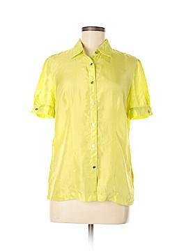 Jaclyn Smith Short Sleeve Silk Top Size M
