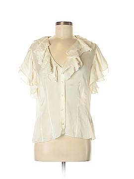 Lauren by Ralph Lauren Short Sleeve Silk Top Size 16